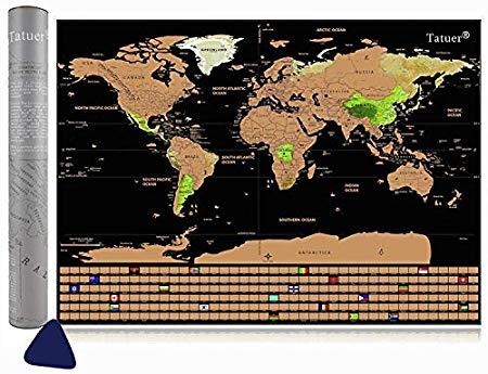 Cartina Mondo Gratta.Tatuer Mappa Del Mondo Nome Del Prodotto Scratch World Map